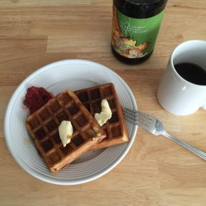 oatmeal waffles with olive oil