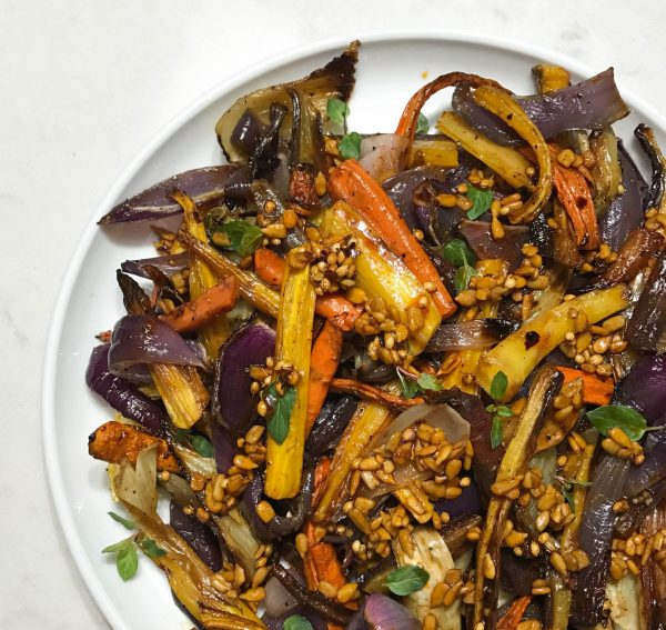 Roasted Carrots, Onion, and Fennel with a Spiced Sherry Vinaigrette ...