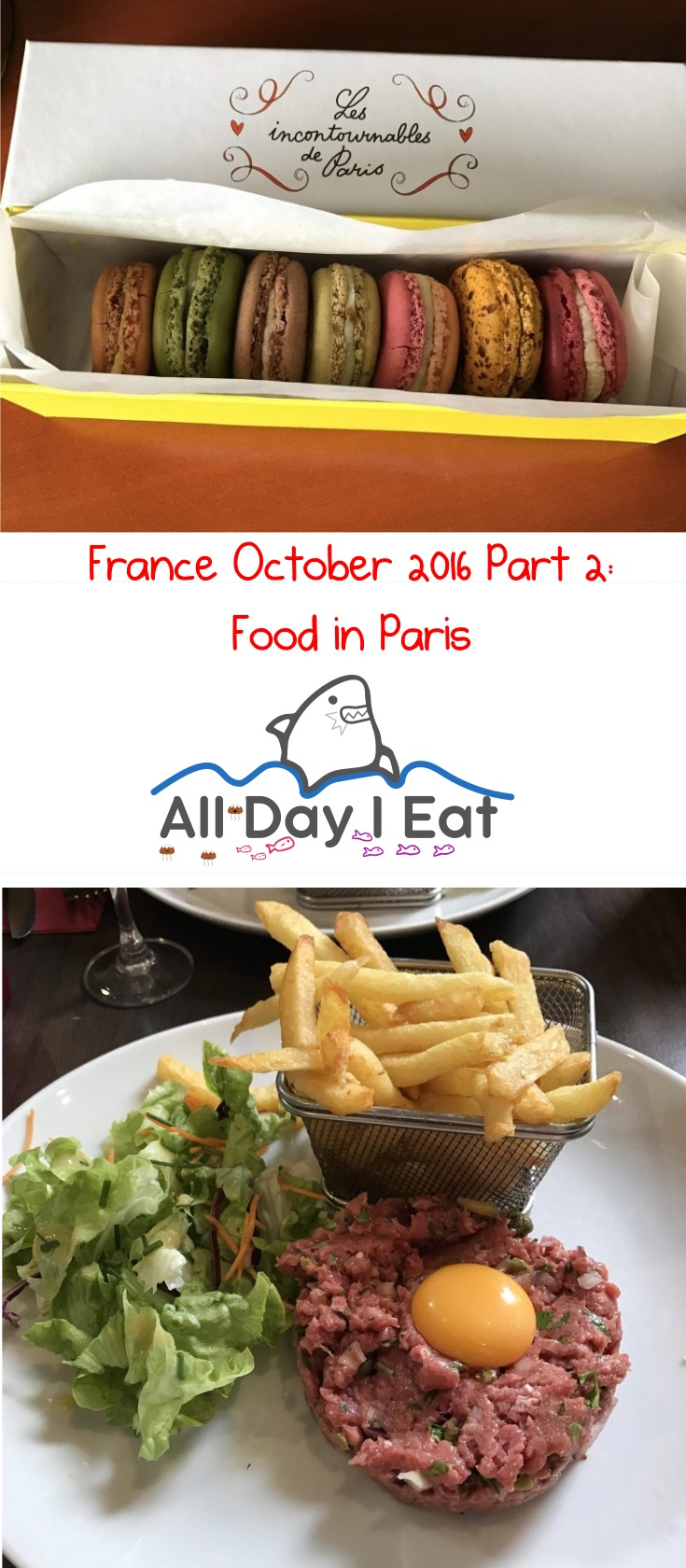 France October 2016 Part 2: Food in Paris Ideas for your next Visit! | www.alldayieat.com