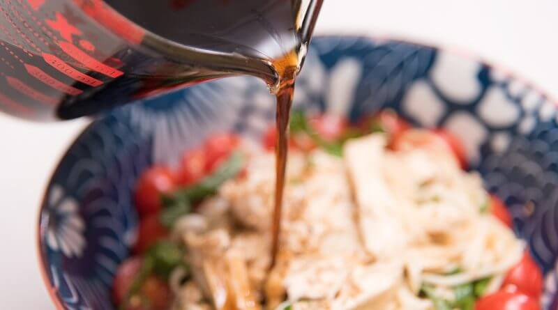 Cold Somen Noodles - With Shiso, Tomatoes and Chicken_