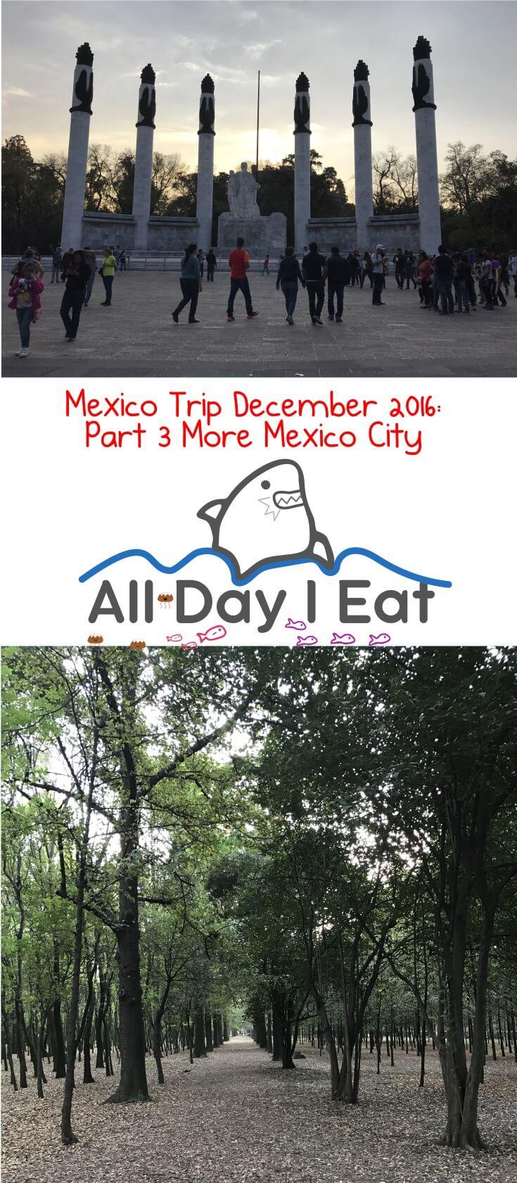 Mexico Trip December 2016: Part 3 Mexico City | www.alldayieat.com