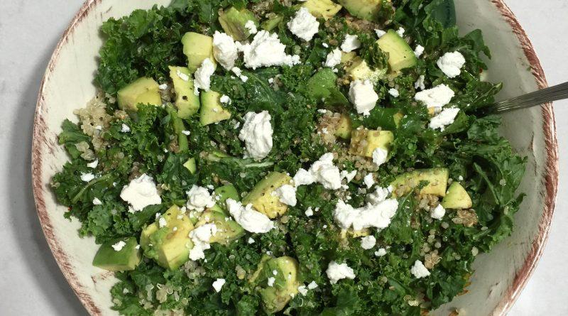 quinoa kale salad avocado feta