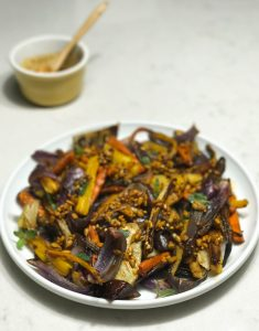 Roasted Carrots, Onion, and Fennel with a Spiced Sherry Vinaigrette   www.alldayieat.com