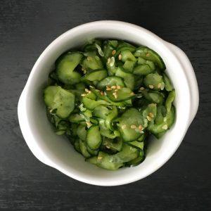 cucumber sunomono | www.alldayieat.com