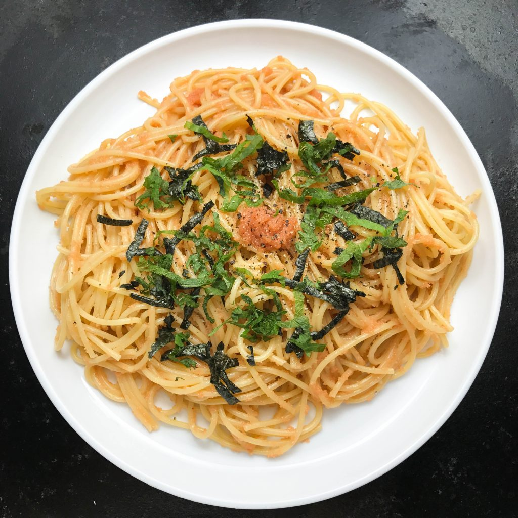Mentaiko Pasta with Olive Oil | www.alldayieat.com