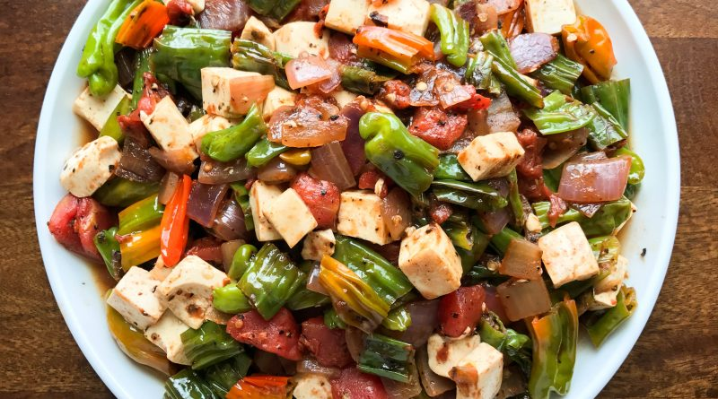 Original Post : Vegan Turkish Menemen (tofu scramble) with Shishito Peppers and Urfa Chile | www.alldayieat.com