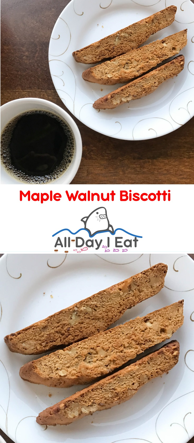 Maple Walnut Biscotti | www.alldayieat.com