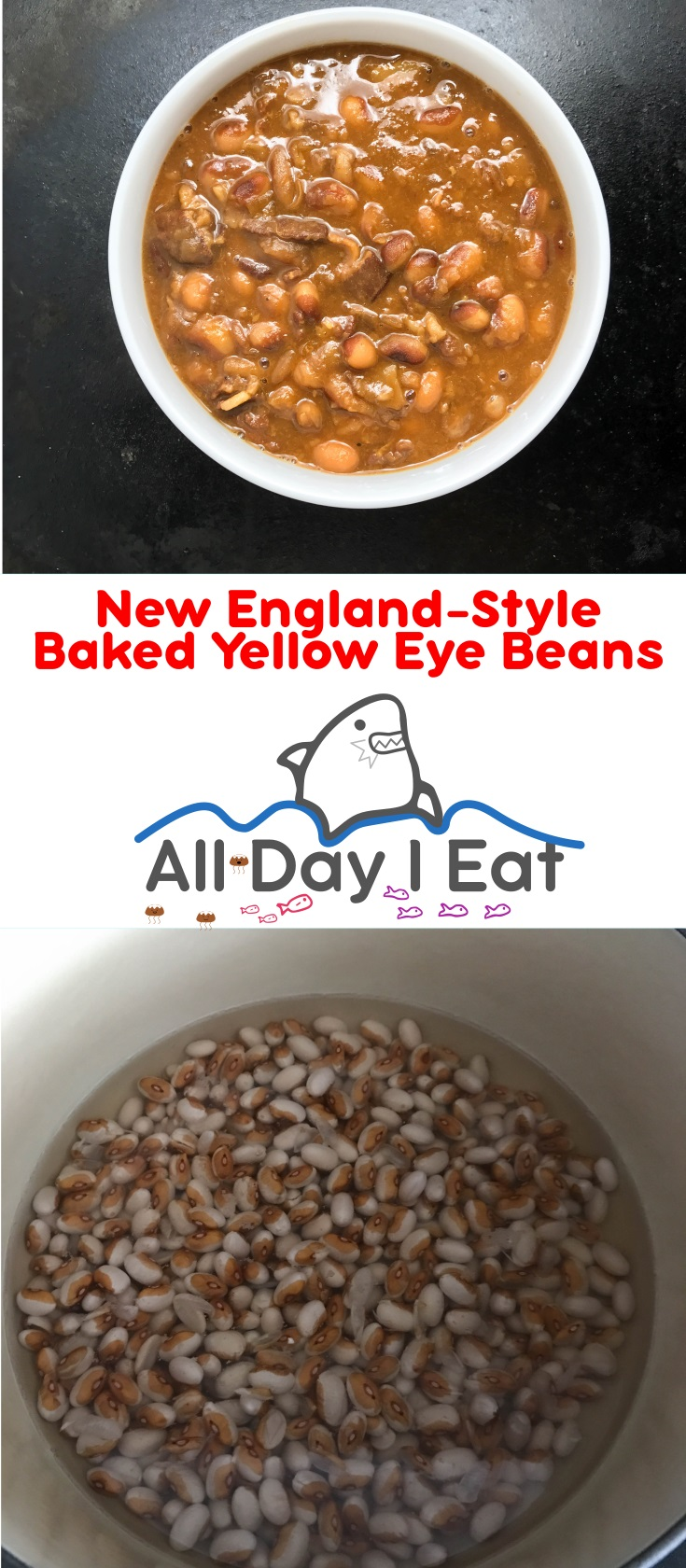 New England-Style Baked Yellow Eye Beans | www.alldayieat.com