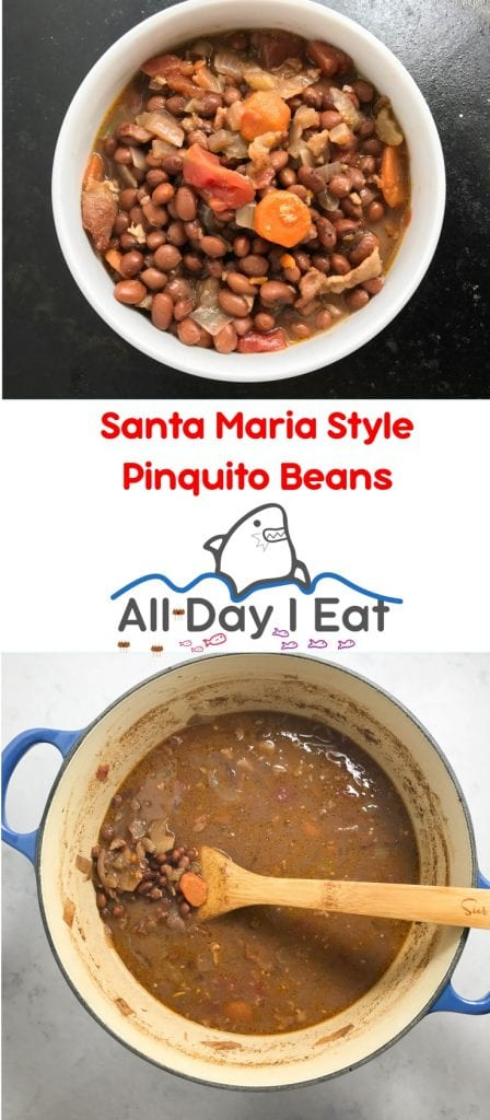 Woohoo!! Santa Maria Style Pinquito Beans! An heirloom bean similar to the pinto beans. These are a healthy side for your BBQ or meats with great flavor! | www.alldayieat.com