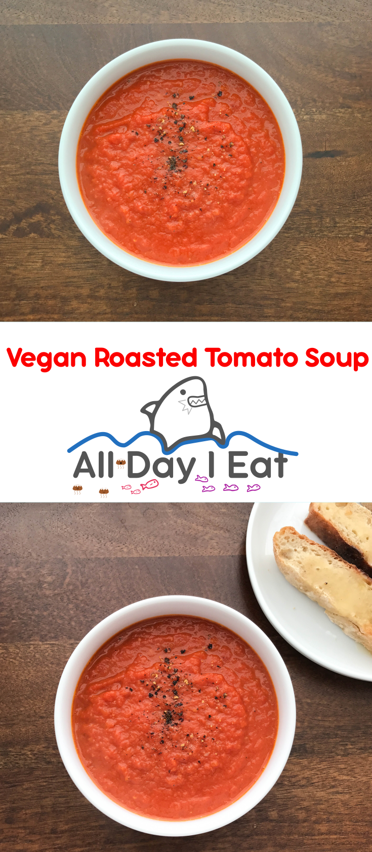 Vegan Roasted Tomato Soup | www.alldayieat.com