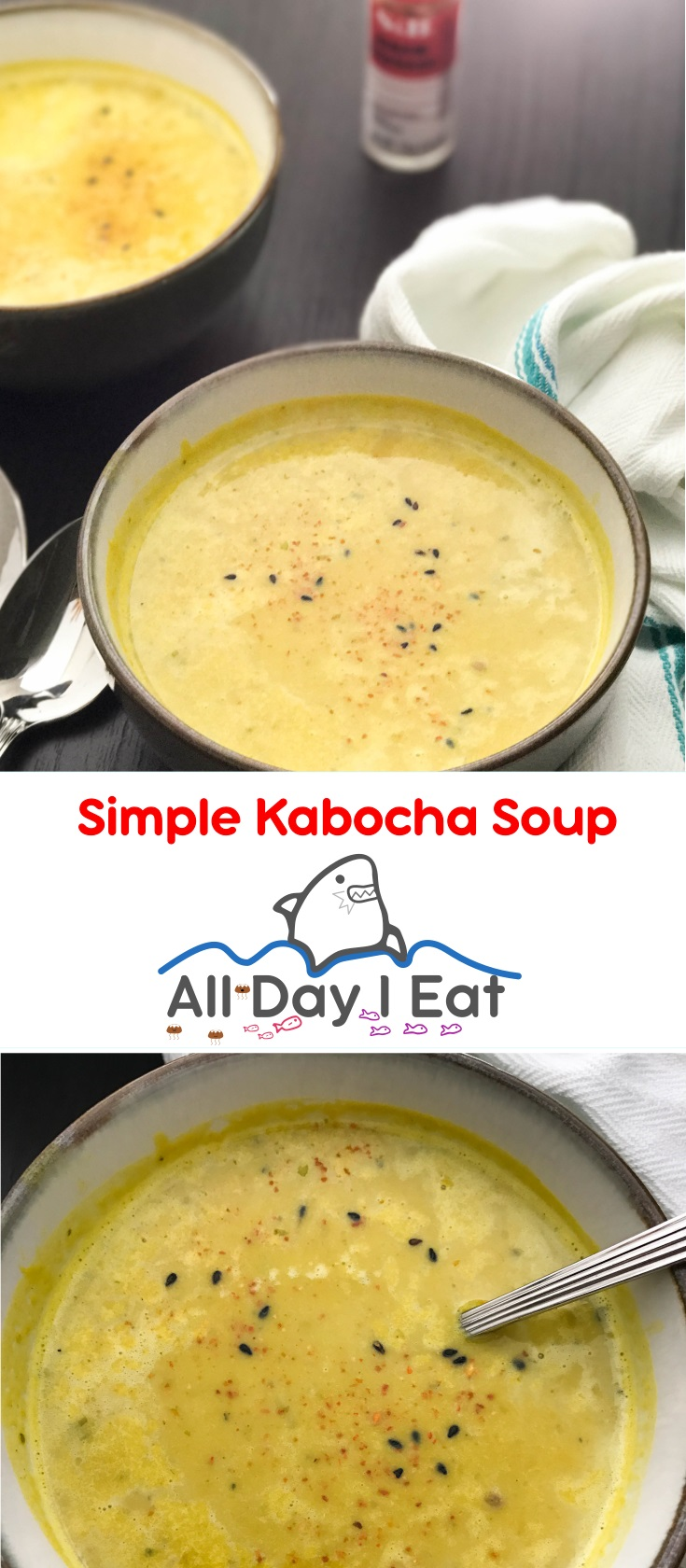 Simple Kabocha (Japanese pumpkin) Soup | www.alldayieat.com