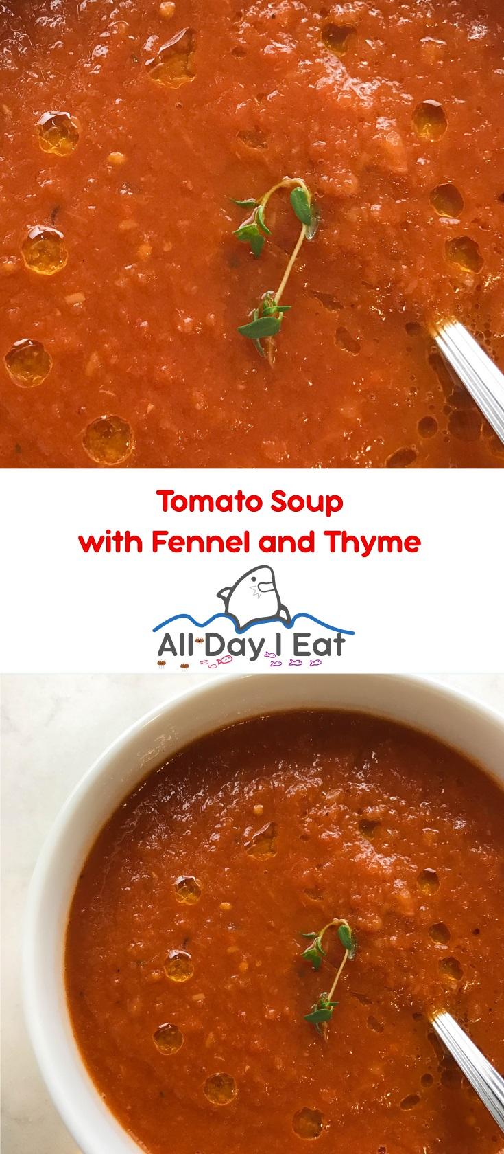 tomato soup thyme | www.alldayieat.com