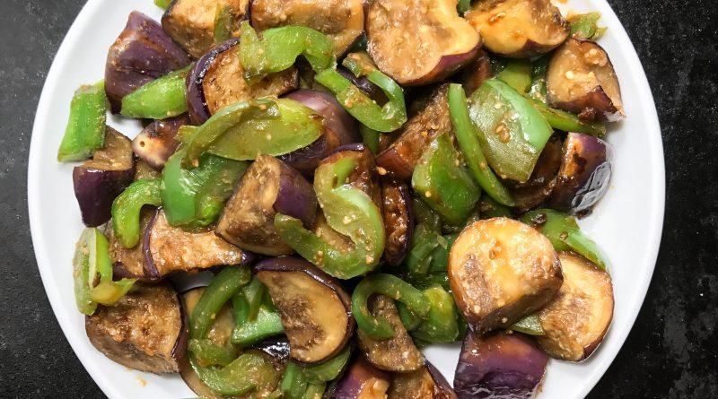 japanese eggplant bell pepper stir fry