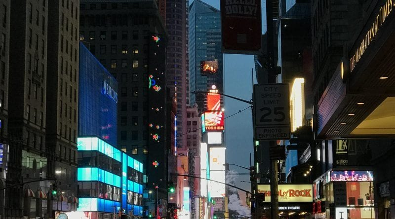 looking toward times square