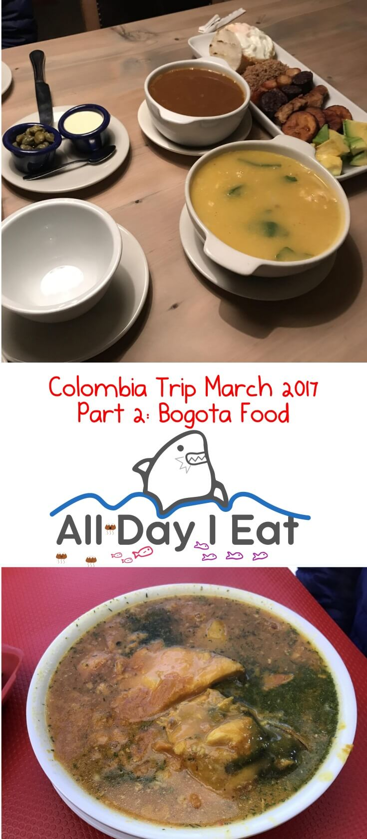 Colombia Trip March 2017 Part 2: Bogota Food. The culinary scene in Bogota is quite extensive with all kinds of delicious food on offer! | www.alldayieat.com`