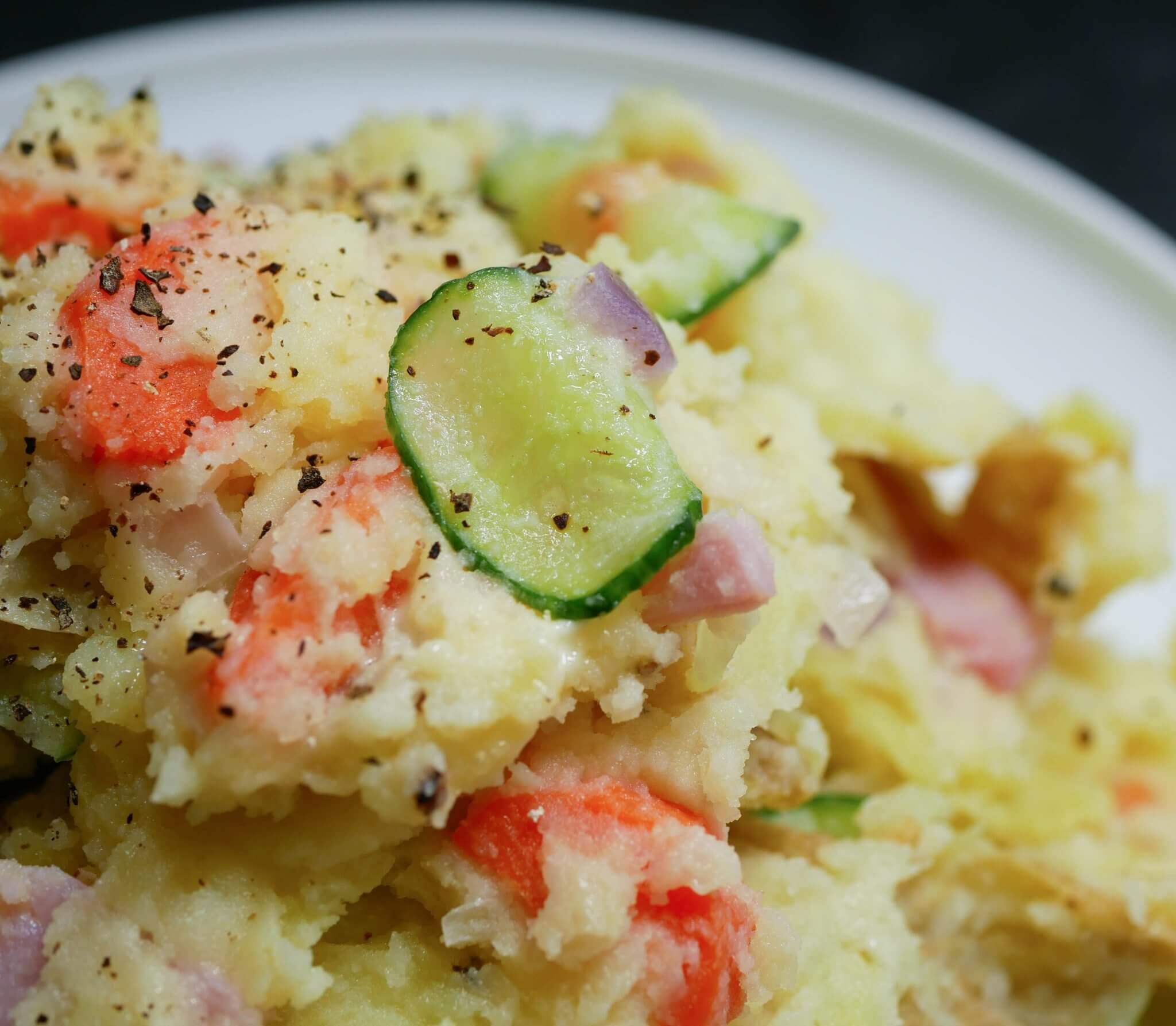 Japanese Style Potato Salad with Ham (3)