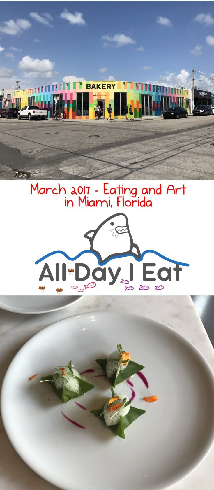 March 2017 - Eating and Art in Miami, Florida. The Wynwood walls were definitely a highlight as were the vegan and Cuban food we ate! Read more for recommendations!| www.alldayieat.com