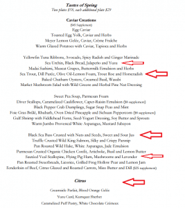 jean georges new york city menu
