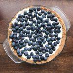 no bake blueberry cream pie with greek yogurt