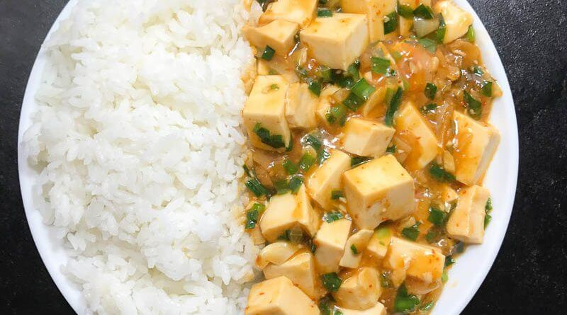 Meatless Mapo Tofu with Nira-2