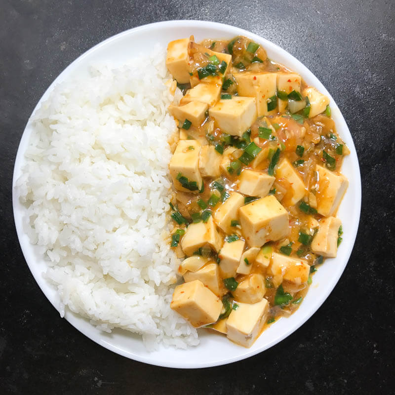 Meatless Mapo Tofu with Nira-2