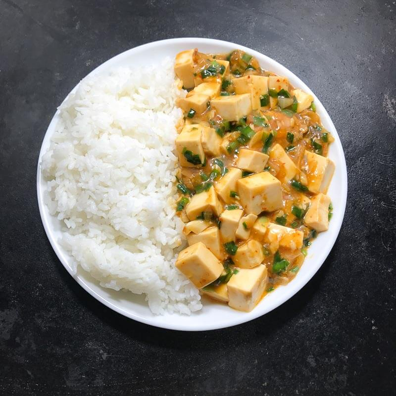 Meatless Mapo Tofu with Nira