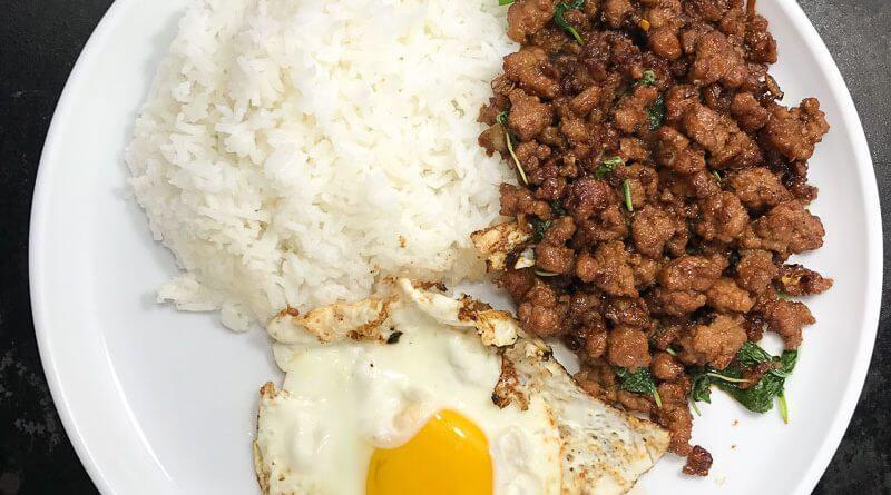 Pad Kra Pao Moo (Stir Fried Pork with Thai Holy Basil)-4
