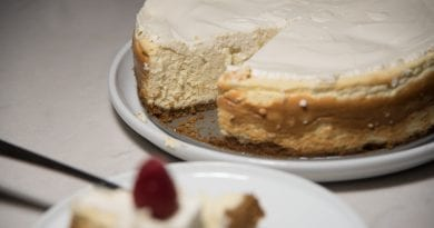 Vanilla Bean Cheesecake with a Walnut Crust