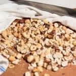 chocolate hazelnut biscotti deskinning