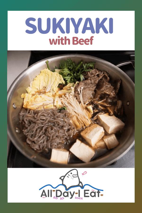 How to Make Sukiyaki with Beef (Japanese Hot Pot)