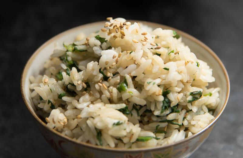 Japanese Mixed Rice with Shungiku mazegohan-5
