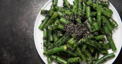 Japanese Side Dish | Green Bean Goma-ae (sesame soy dressing)