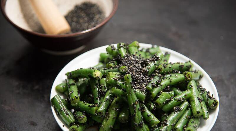 japanese green bean salad sesame dressin