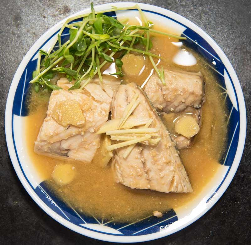 Japanese Style Mackerel with Miso and Ginger (misoni)-3