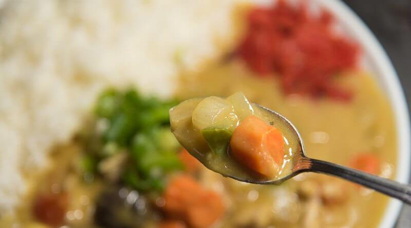 japanese curry with chicken curry rice from scratch-3
