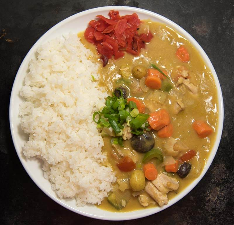 Japanese Curry With Chicken Curry Rice From Scratch All Day I Eat Like A Shark