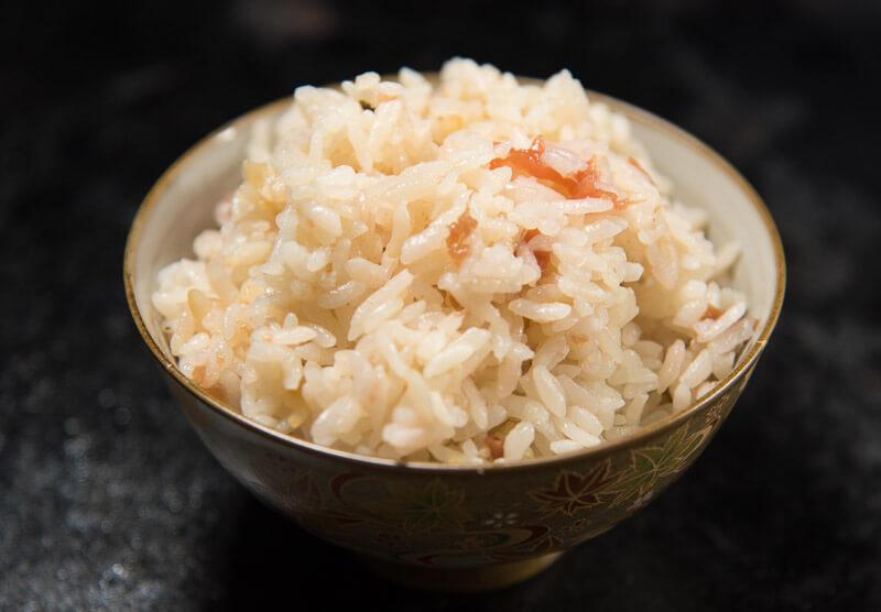 umeboshi takikomi gohan bowl