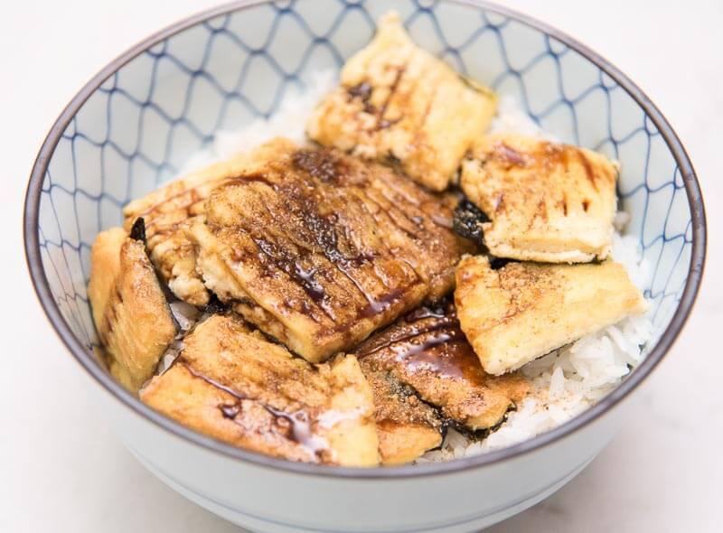 Tofu Kabayaki - Savory Tofu Patties with Yamaimo