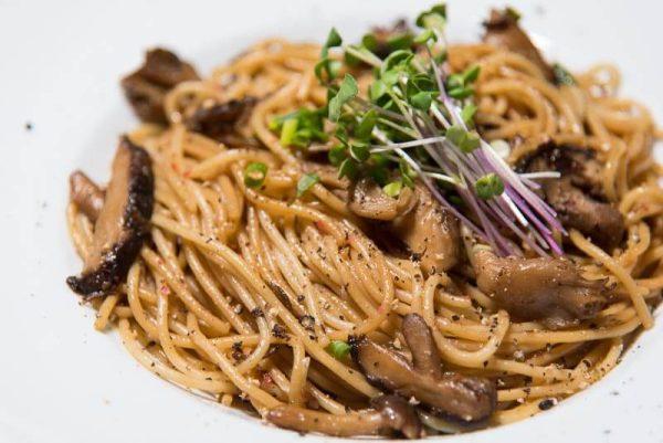 kinoko pasta japanese mushroom pasta closeup side