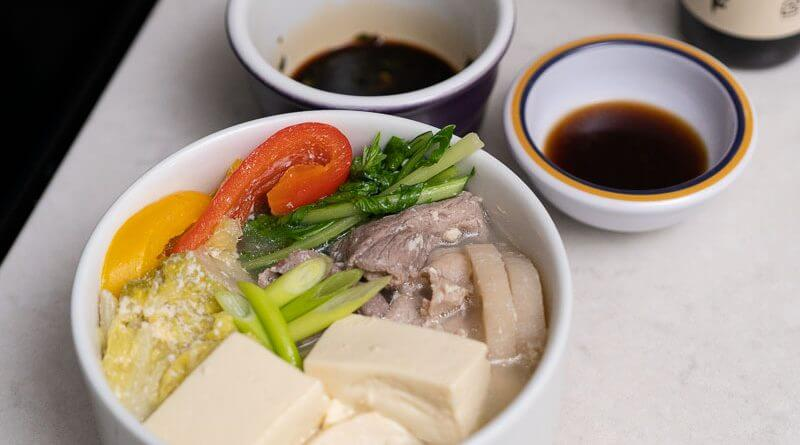 japanese soy milk hot pot tonyuu nabe with pork and tofu-2