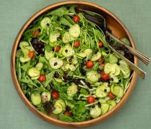 mizuna salad with yuzukosho dressing japanese style salad with baby greens