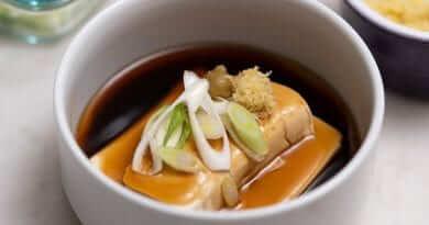 Japanese tofu recipe | Ankake Doufu (Savory Dashi Sauce)