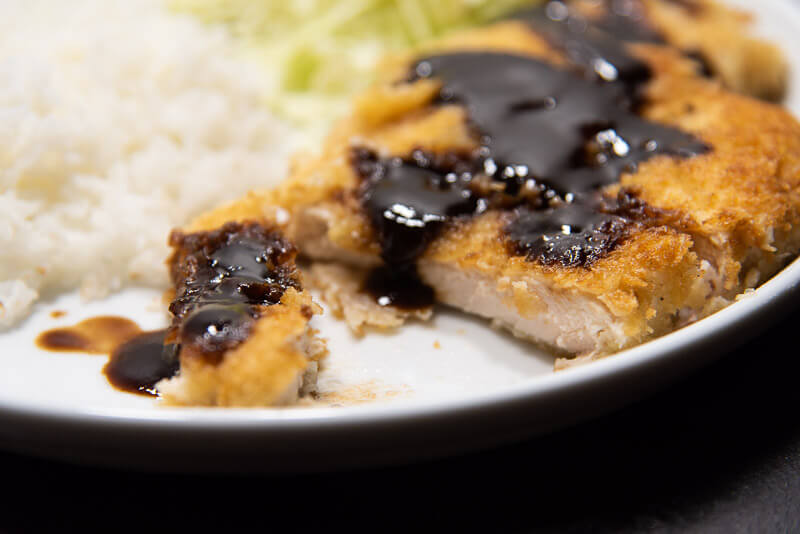 chicken katsu japanese style deep fried chicken cutlet