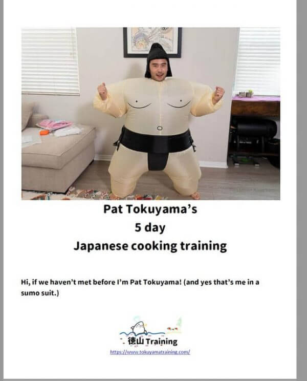 5 day training cookbook tokuyama training