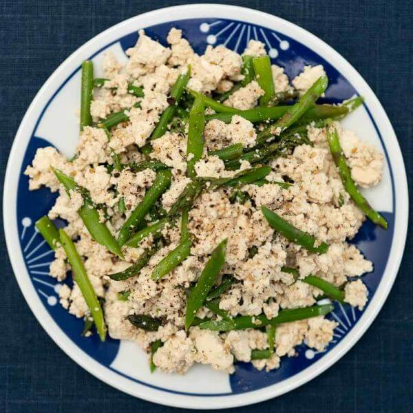 asparagus shira ae with japanese tofu-2