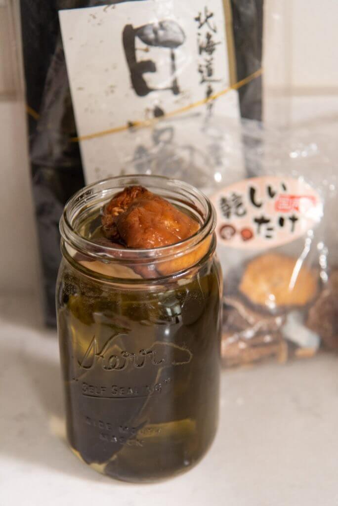 shiitake konbu dashi ingredients