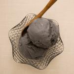 Japanese style black sesame ice cream with kurogoma 1