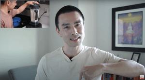 Make soy milk with Vitamix or high speed blender
