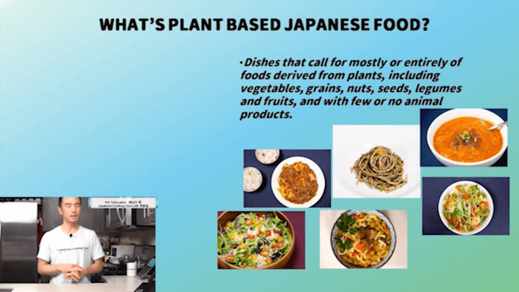 Japanese plant based food