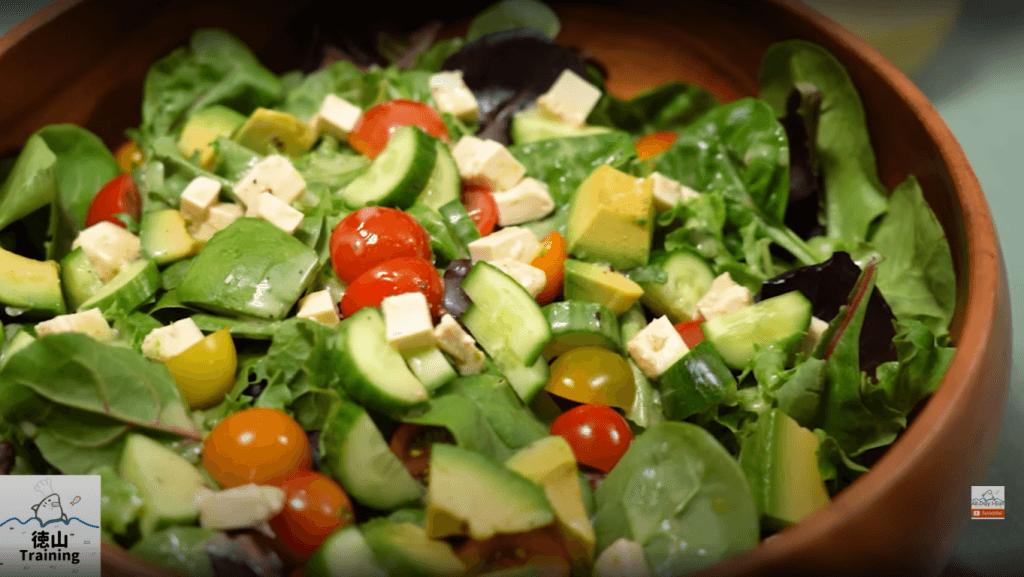 Salad with shiokoji dressing